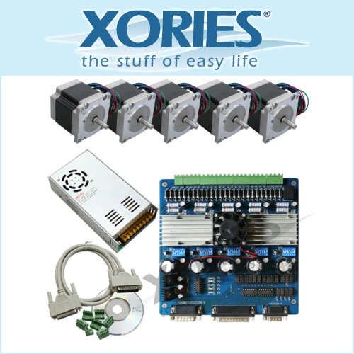 CNC Kit 3A 5 Axis Driver + Stepper Motor + 24V15A PSU